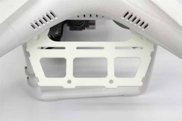 DJI V1 Phantom - twin/dual large external Lipo 5000mah White FR4 g10