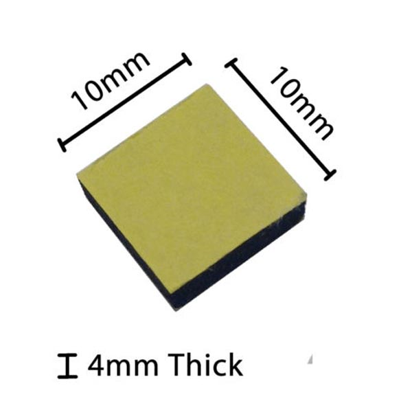 10 x 10mm Foam Pad