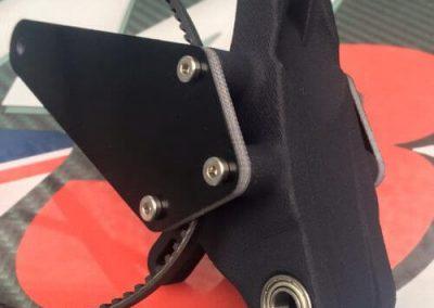 swinging arm and 3D printed part Black Fr4 - Main Frame Parts M3R radio control motor bike