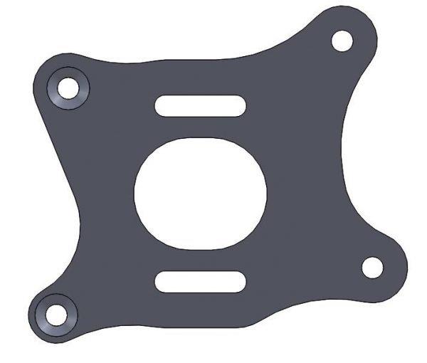 M3R-16 Full GRP Body Plate Kit Black Fr4 - Main Frame Parts M3R radio control motor bike