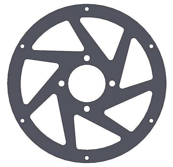 M3R-16 GRP spoke 4 hole - front wheel - 3mm Black Fr4