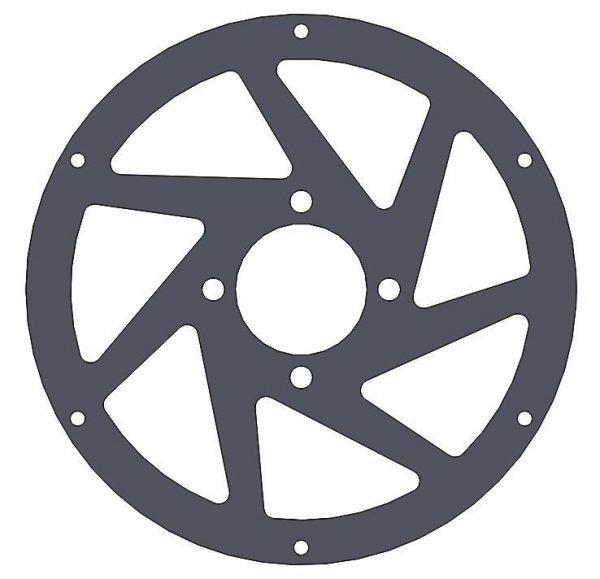 M3R-16 GRP spoke 4 hole - rear wheel - 3mm BlaBlack Fr4 - Main Frame Parts M3R radio control motor bike Fr4
