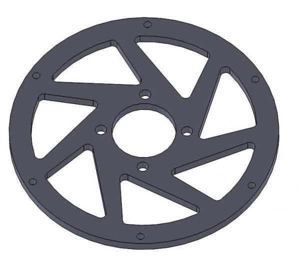 M3R-16 GRP spoke 4 hole - rear wheel - 3mm Black Fr4