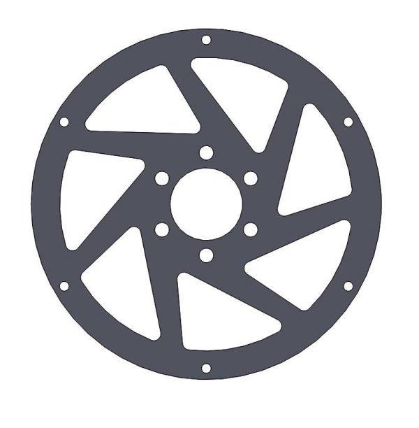 Jabber spoke 6 hole - front wheel - 4.2mm Black Fr4