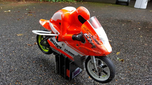 RC Motor Bike Dual Stand With Tyre Warmer Module Space