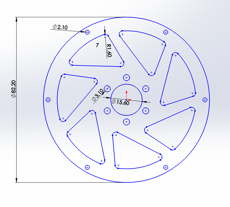 2D & 3D CAD Design - Jabber radio controlled motor bike wheel spoke