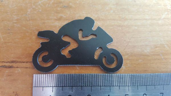 Motor Bike Black Fr4 Key Ring Throb / Logo