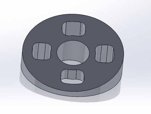 3D Printed 15 degree motor mount wedges - Impulse - Alien - 5