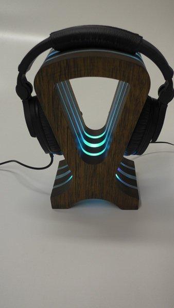rgb led headphone stand
