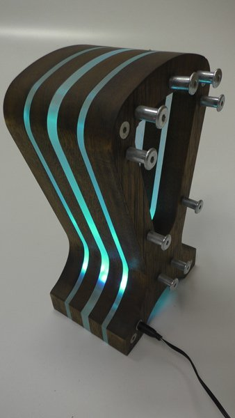 rgb led headphone stand