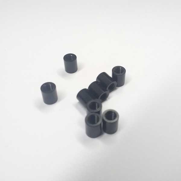 black aluminium spacer standoff 6mm