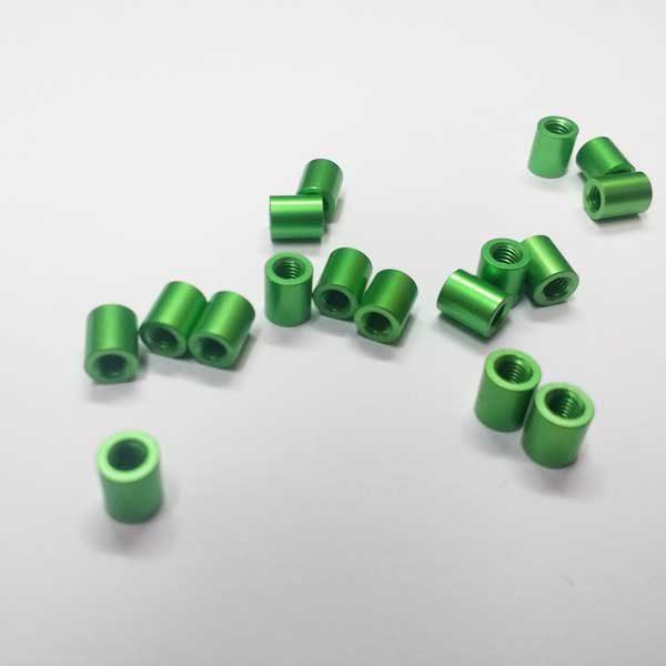 green aluminium spacer standoff 6mm
