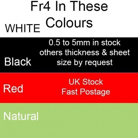 FR4 G10 Epoxy Laminate Sheets, Plates, Ridged Black White Red Jade/Green Natural